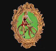 Old school Bike Girl in Frame Unisex T-Shirt
