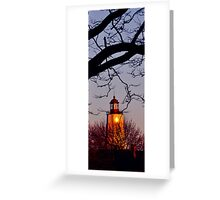 Lighthouse at twilight Greeting Card