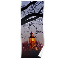 Lighthouse at twilight Poster