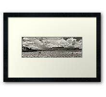 Fisher and Titan Towers Framed Print