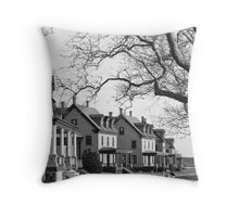 Walking along Officers Row #2 Throw Pillow