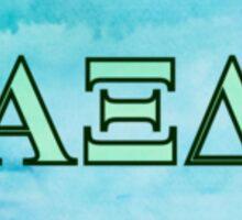 Alpha Xi Delta Letters Sticker