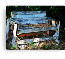 Abandoned Bench Canvas Print