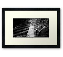 wet shopping Framed Print