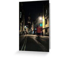Turl Street Dash, Oxford Greeting Card