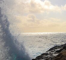 Crashing Waves Late Afternoon Monterey, Ca by Mark Redfern