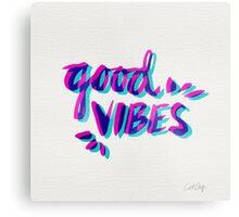 Good Vibes – Magenta & Cyan Metal Print