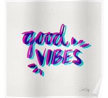 Good Vibes – Magenta & Cyan Poster