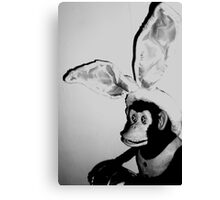03-30-11: Musical Jolly Chimp as Easter Bunny Canvas Print