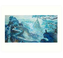 Conquer of the Blue Mountain  Art Print