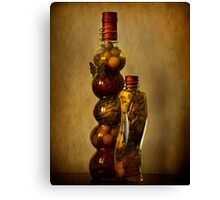 Spice Bottles Canvas Print