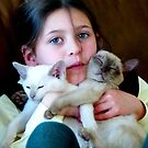 Lauren with a hand full of Kittens. by ronsphotos