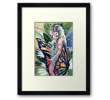My Monarch and Me Framed Print