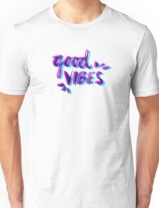 Good Vibes – Magenta & Cyan Unisex T-Shirt