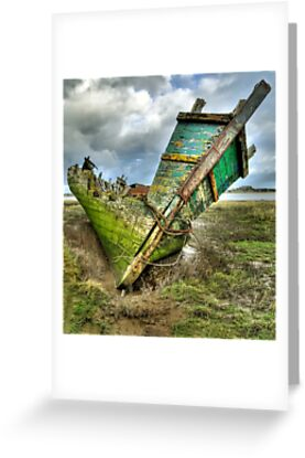 Wreck on Fleetwood Marsh by Steve  Liptrot