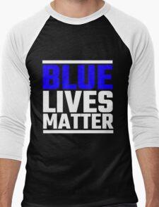 Blue Lives Matter Men's Baseball ¾ T-Shirt