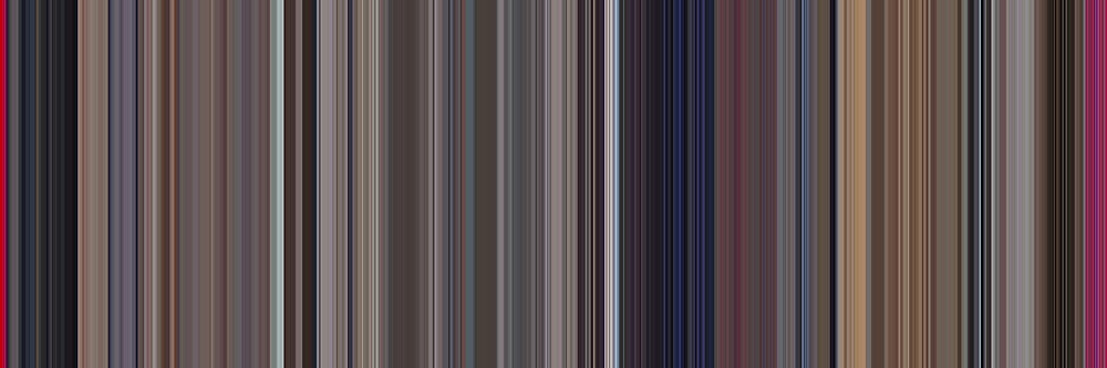 Moviebarcode: A Clockwork Orange (1971) [Simplified Colors] by moviebarcode