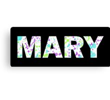 MARY Paint Splatter Name - White Background Canvas Print