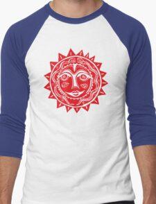 Red sun  Men's Baseball ¾ T-Shirt
