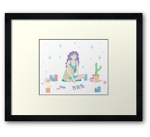 The Card Reader Framed Print