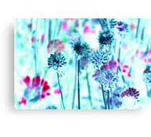 Botanical Abstract in Pastel XII Canvas Print