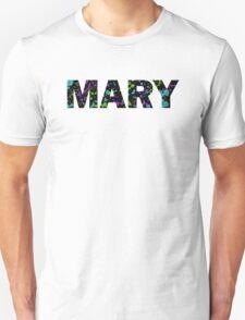MARY Paint Splatter Name - Black Background Unisex T-Shirt