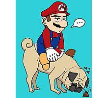Super Mario Pug Yoshi Photographic Print