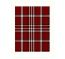 00713 University of Alabama Tartan Art Print