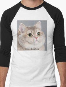 Heavy Breathing Cat Men's Baseball ¾ T-Shirt