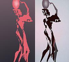 Women with jugs by kseniako