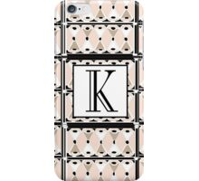 1920s Pink Champagne Gatsby Monogram letter K iPhone Case/Skin