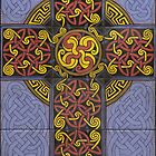 Celtic Cross Tile Mural by thropots