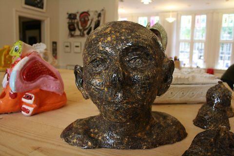 Bust of an Indian Guru. by Tim  Duncan
