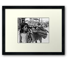 Main Street, Puerto Escondido, Mexico Framed Print