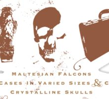 McGuffin's Curio Shoppe - (for Dark Shirts) Sticker