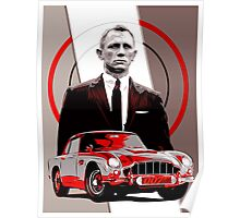 JAMES BOND-ASTON MARTIN Poster