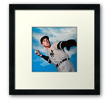 Joe DiMaggio painting Framed Print