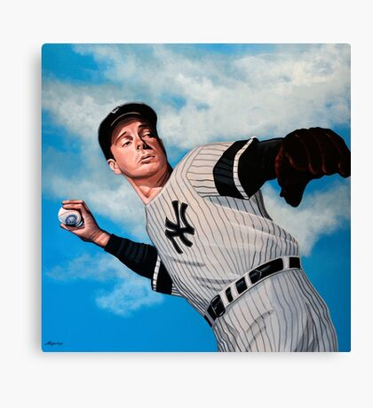 Joe DiMaggio painting Canvas Print
