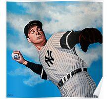 Joe DiMaggio painting Poster