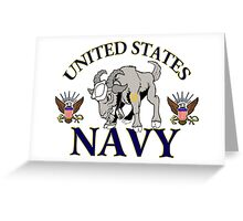The Navy Goat Greeting Card