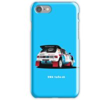 PEUGEOT 205 TURBO 16 RALLY CAR iPhone Case/Skin
