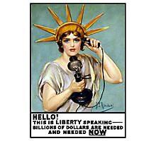 This Is Liberty Speaking -- World War I Photographic Print