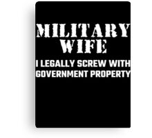 Military Wife Canvas Print