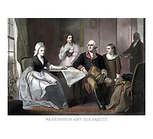 Washington And His Family Photographic Print