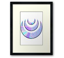 moon crecents Framed Print