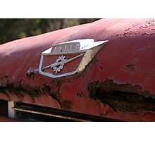 Rusty Hood of an Old Dumptruck Photographic Print