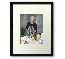 Onions for the barbie Framed Print