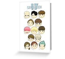 SEVENTEEN Chibi Heads Greeting Card
