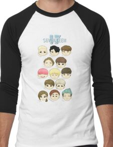 SEVENTEEN Chibi Heads Men's Baseball ¾ T-Shirt