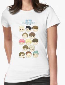 SEVENTEEN Chibi Heads Womens Fitted T-Shirt